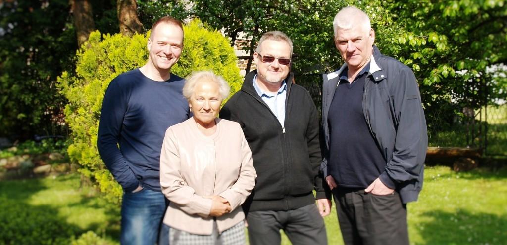 Autorzy podręcznika. Od lewej: Maciej Sosnowski, Aurelia Włoch, Piotr Domaradzki, Jerzy Krzyszkowski